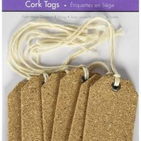 Multicraft Imports SE610 Tag Cork Tags (6 Pack), Brown