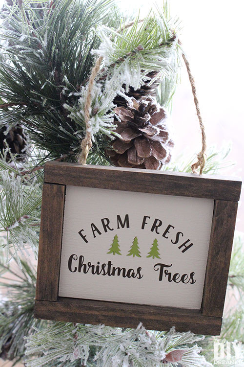 Farm Fresh Christmas Trees Ornaments. Display your love of freshly cut Christmas trees with this DIY ornament.