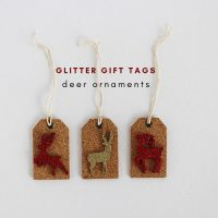 Glitter Gift Tags - Deer Ornaments