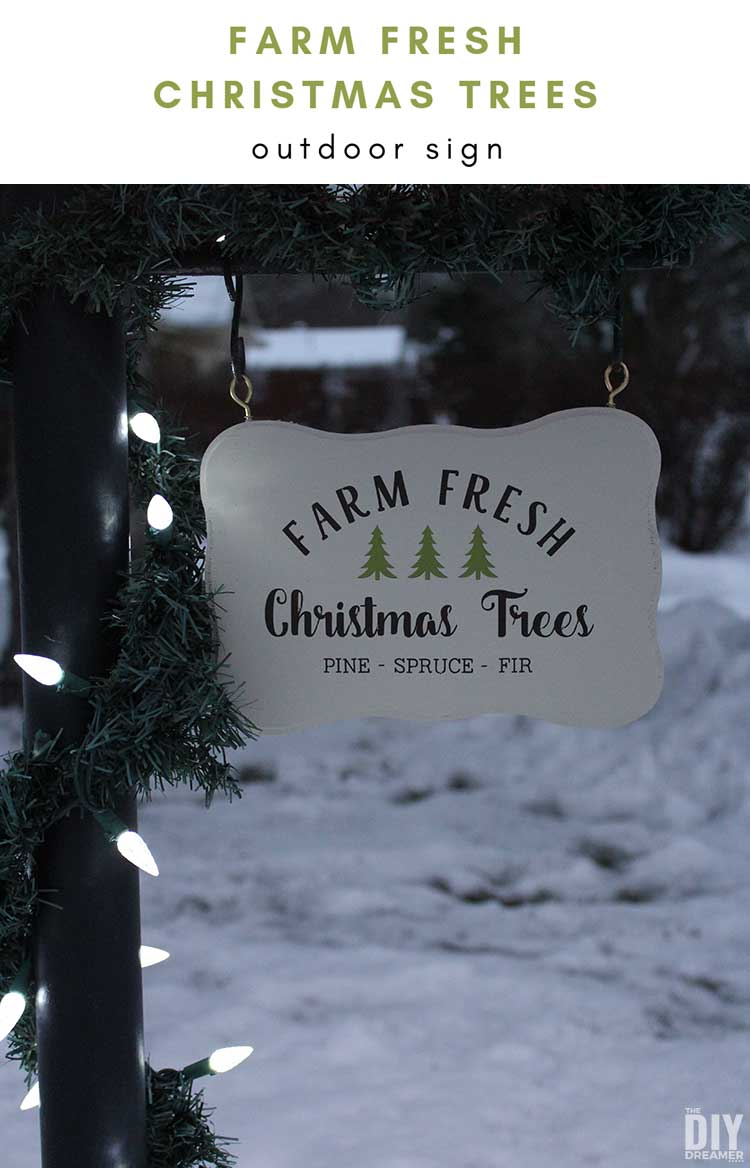 Farm Fresh Christmas Trees sign. DIY Christmas sign: Freshly Cut Christmas Trees