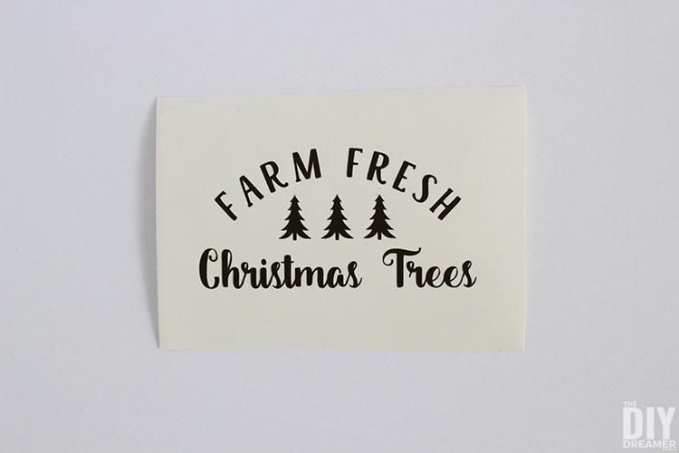 Farm Fresh Christmas Trees vinyl design
