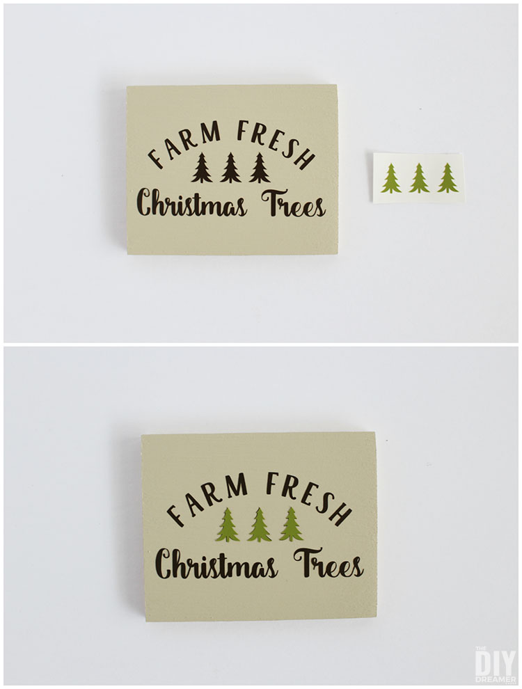 Making ornaments using vinyl
