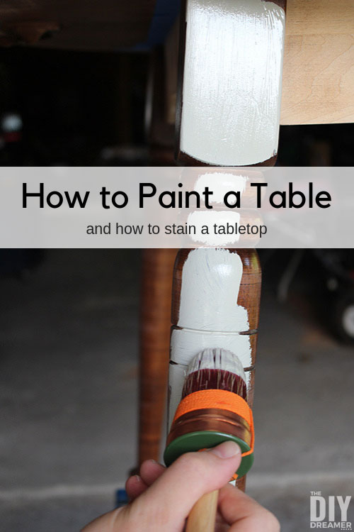 How to paint a table and stain a tabletop. Step by step tutorial using Fusion Mineral Paint.