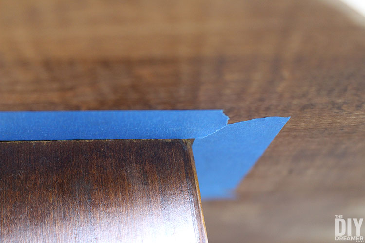 Painter's tape helps prevent paint from getting onto undesired areas
