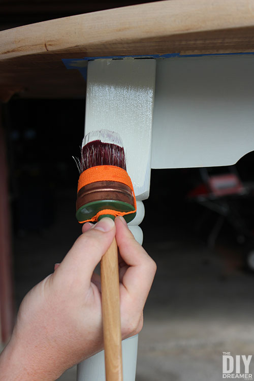 Applying second coat of Fusion Mineral Paint