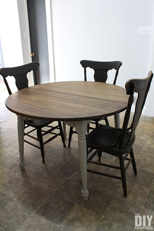 Dining table makeover with Fusion Mineral Paint