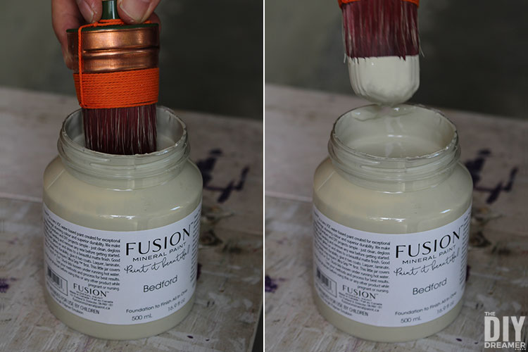 How to apply paint to Staalmeester Brush