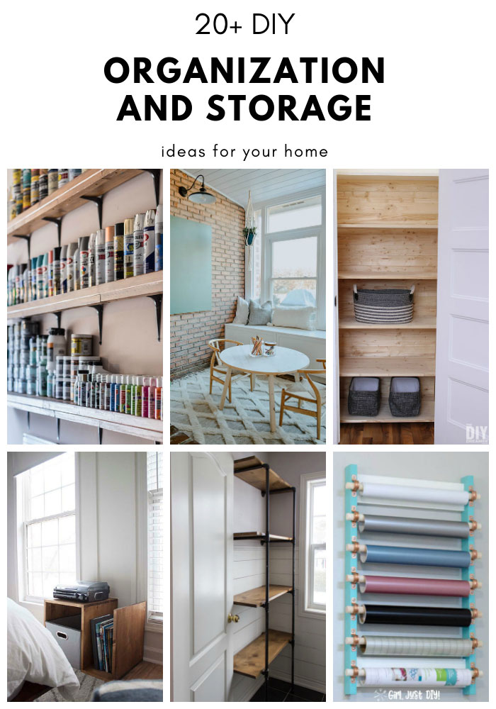 20+ DIY Organization and Storage Ideas for your home. A great collection of projects to help you organize your home.