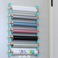 DIY Craft Vinyl Storage Rack