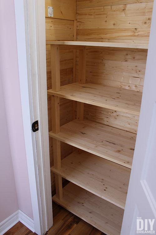 DIY Wood Shelving