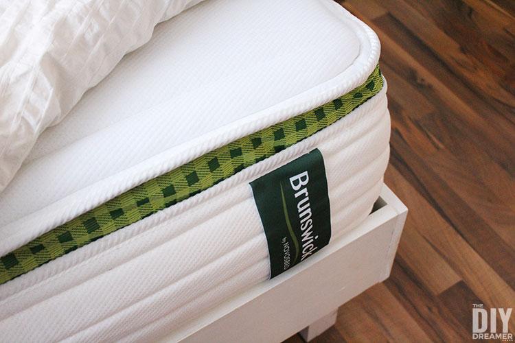 Brunswick mattress review. Classic spring comfort mattress.