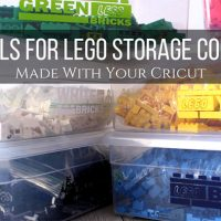 DIY Labels For Lego Storage Containers Made With Your Cricut