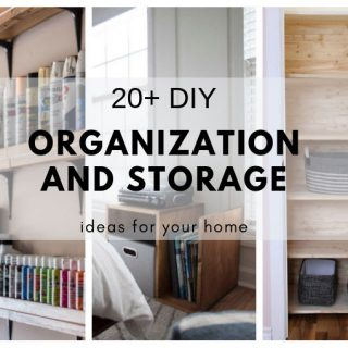 20+ DIY organization and storage ideas for your home.