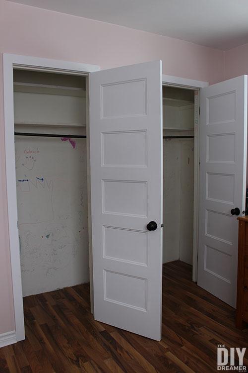 Empty closet before makeover.