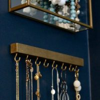 Simple Modern DIY Wall Necklace Hanger