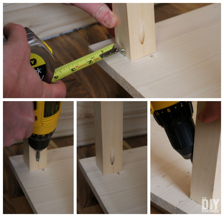 How to assemble shelving
