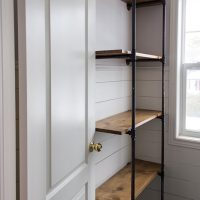 Build to Organize Challenge - DIY Pipe Shelves for the Bathroom