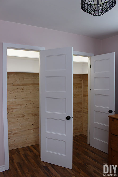 Makeover A Closet With Planks. Beautiful Planked Closet.