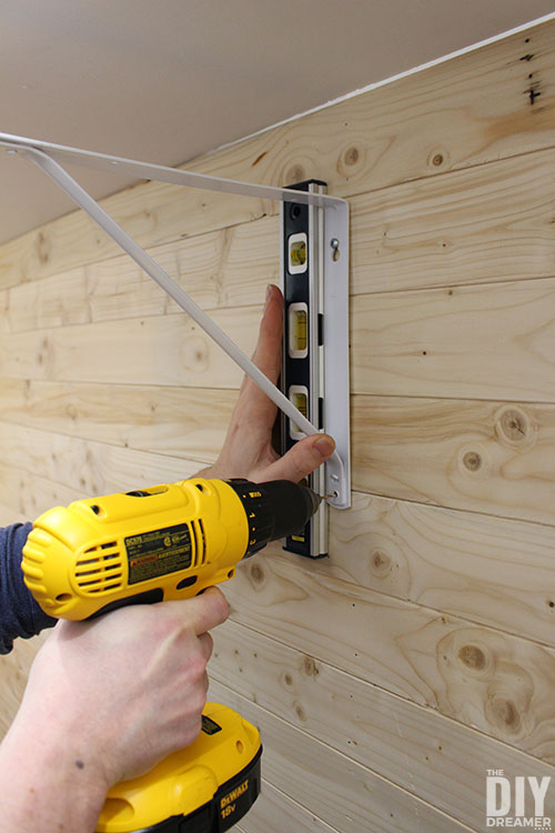 How to install rod support bracket in a closet