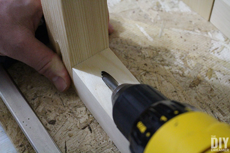 Use clamps to keep project from moving and use screws to fasten
