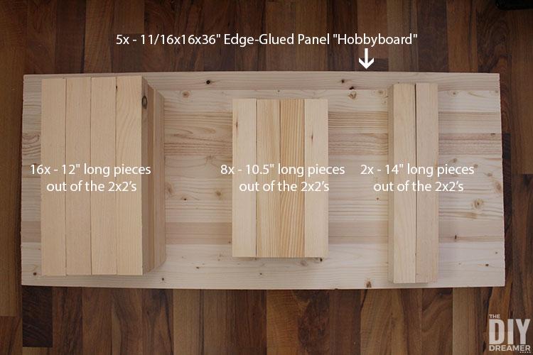 Wood cut list to build closet shelving