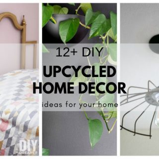 DIY home decor made from upcycled items. Many items can be upcycled into beautiful home decor pieces by using some imagination.