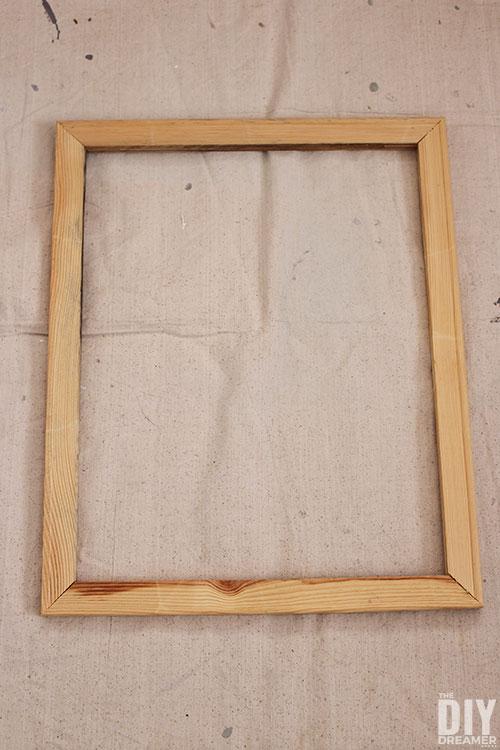 Wood frame inside stretched canvas