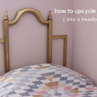 How to Upcycle a Frame into a Headboard