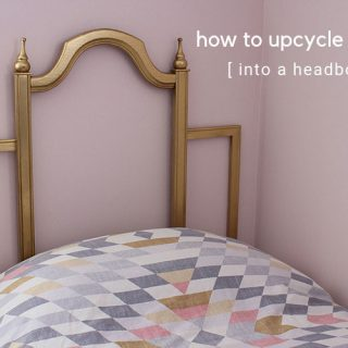 Learn how to upcycle a frame into a headboard. DIY headboard tutorial.