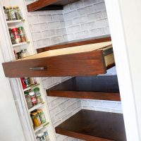 DIY Built In Pantry Shelves with Pull Out Drawers | Pantry Shelving System