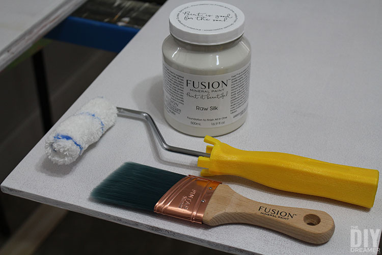 Painting kitchen cabinets with Fusion Mineral Paint.