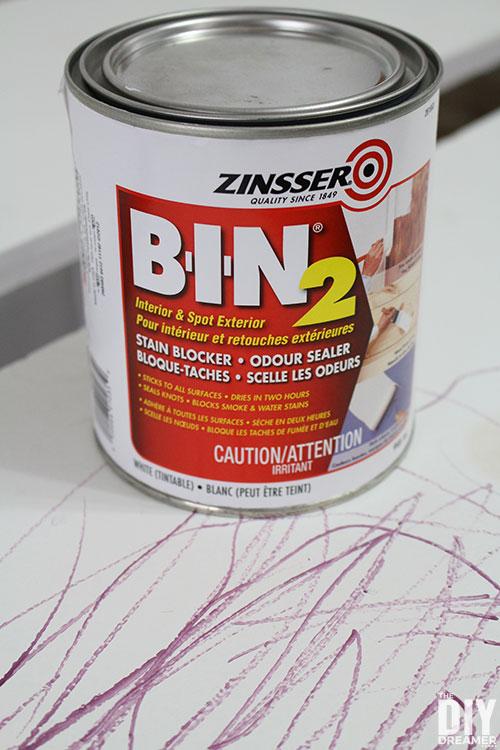 ZINSSER BIN 2 Primer Stain Blocker Odor Sealer
