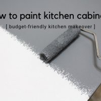 How to Paint Kitchen Cabinets - Budget-Friendly Kitchen Makeover