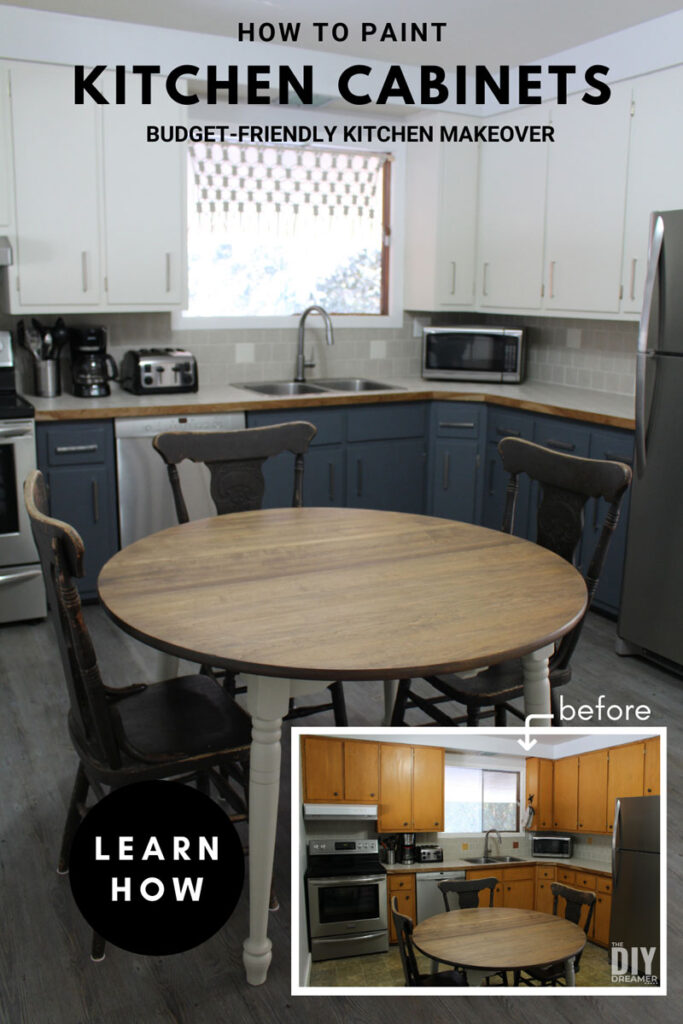 How To Paint Kitchen Cabinets Budget Friendly Kitchen Makeover