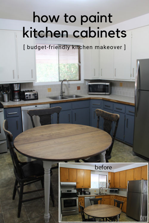 Budget Friendly Kitchen Makeover: How To Paint Kitchen Cabinets