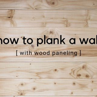 How to plank a wall with wood paneling. Installing wood paneling is a fun DIY that quickly changes a look to a wall. Learn how to plank a wall with this step by step tutorial.