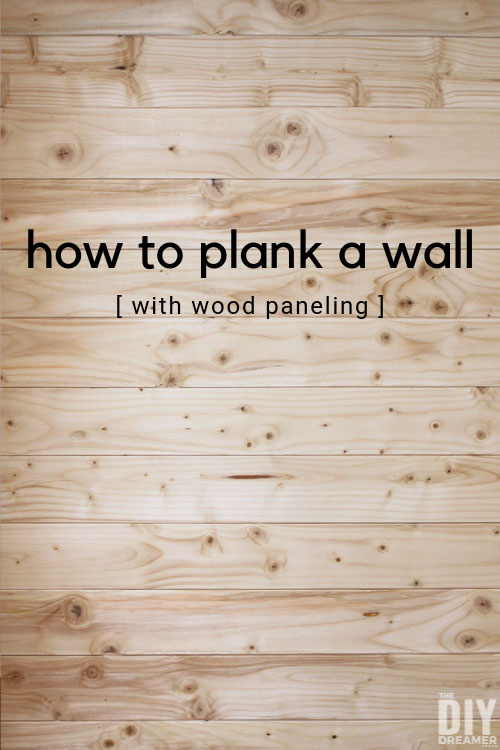 How to plank a wall with wood paneling. Installing wood paneling is a fun DIY that quickly changes a look to a wall.