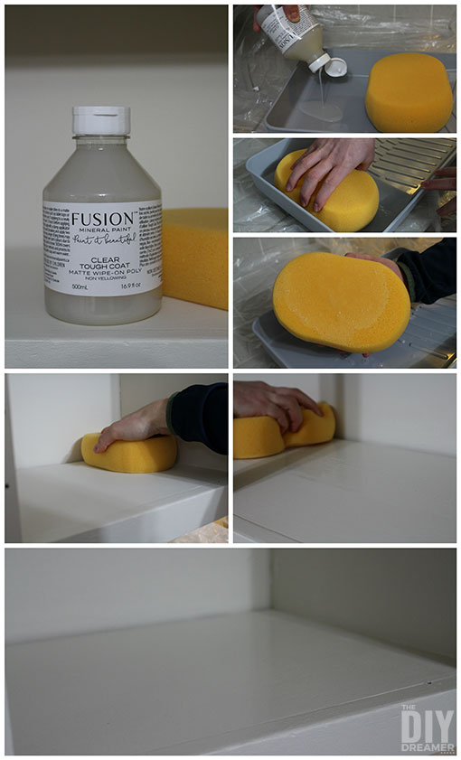 How to use Tough Coat to give extra protection to kitchen shelves.