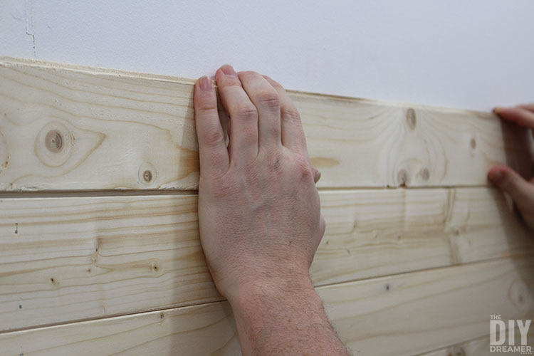 How to install tongue and groove paneling.