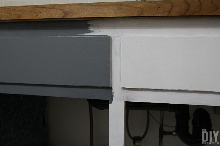 Painting cupboards with Fusion Mineral Paint.