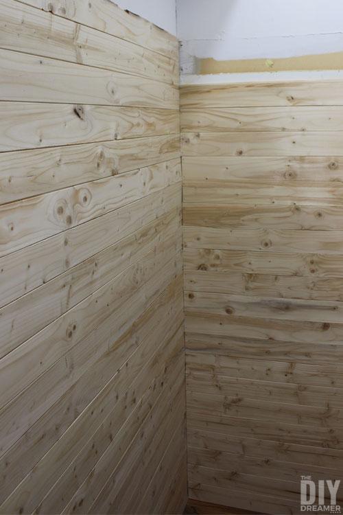 DIY Planked Closet Walls