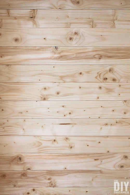How to plank a wall with wood paneling.