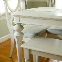 White Dining Table Makeover