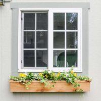 Easy $15 Fixer Upper Style DIY Cedar Window Boxes