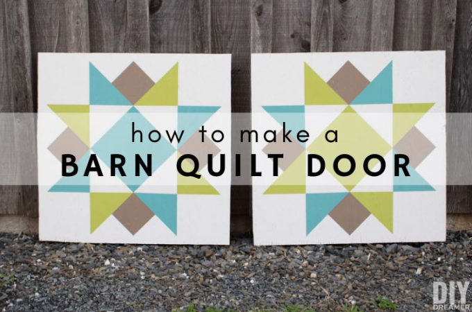 Learn how to make a barn quilt door.