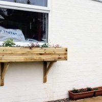 DIY Flower Window Boxes & Gallows Brackets