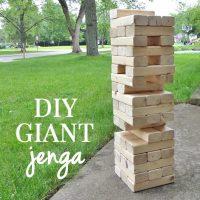 How to Make a Giant Jenga Yard Game