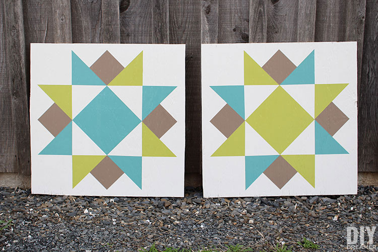 How to make barn quilts to decorate your home.