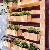 DIY Vertical Garden Wall Planter with Plans