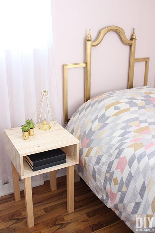 DIY modern nightstand tutorial.